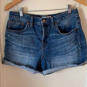 Made well high rise denim shorts size 28
